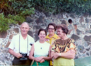1974 circa-Dr and Margaret  Rhue with Razzano sisters St John_a